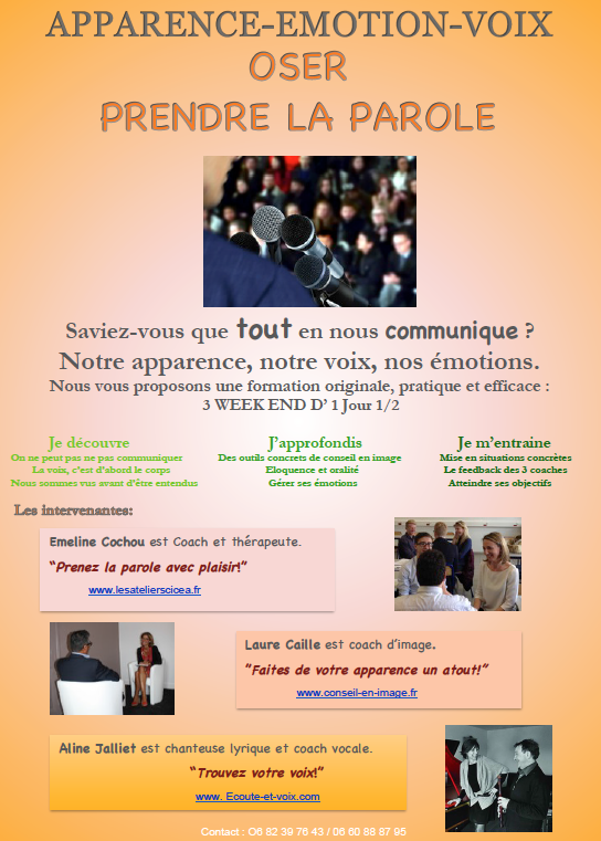 Photo flyer prise de parole